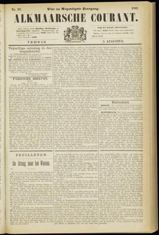 Alkmaarsche Courant 1892-08-05