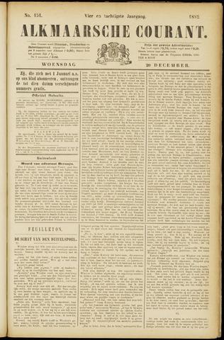 Alkmaarsche Courant 1882-12-20