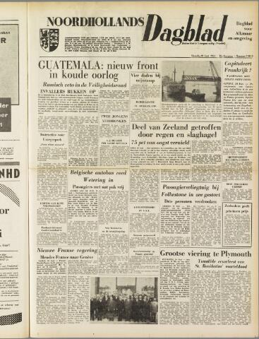 Noordhollands Dagblad : dagblad voor Alkmaar en omgeving 1954-06-21