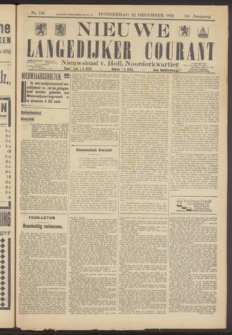Nieuwe Langedijker Courant 1932-12-22