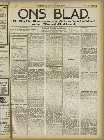 Ons Blad : katholiek nieuwsblad voor N-H 1909-10-23