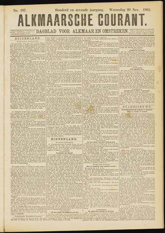 Alkmaarsche Courant 1905-11-29