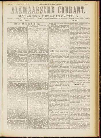 Alkmaarsche Courant 1915-05-14