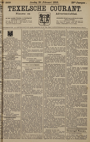Texelsche Courant 1916-02-20