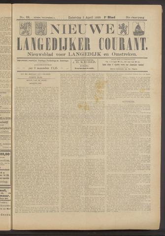 Nieuwe Langedijker Courant 1922-04-01