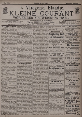 Vliegend blaadje : nieuws- en advertentiebode voor Den Helder 1890-04-02
