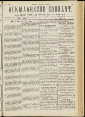 Alkmaarsche Courant 1914-11-02