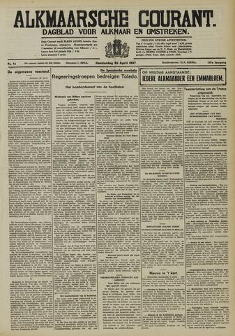 Alkmaarsche Courant 1937-04-22