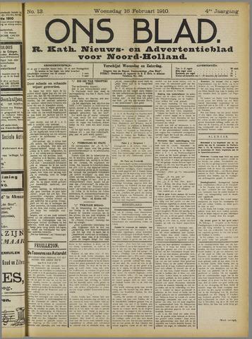 Ons Blad : katholiek nieuwsblad voor N-H 1910-02-16