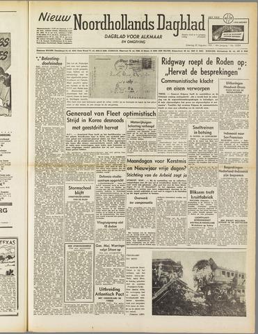 Nieuw Noordhollandsch Dagblad : voor Alkmaar en omgeving 1951-08-25