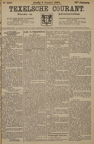 Texelsche Courant 1916-01-09