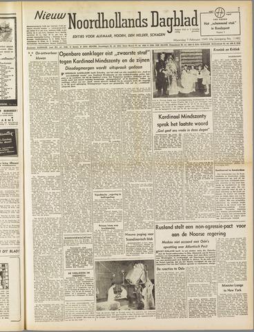 Nieuw Noordhollandsch Dagblad : voor Alkmaar en omgeving 1949-02-07