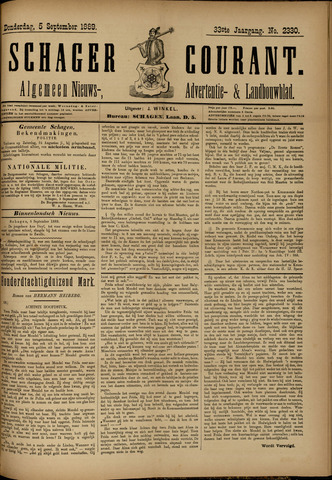 Schager Courant 1889-09-05