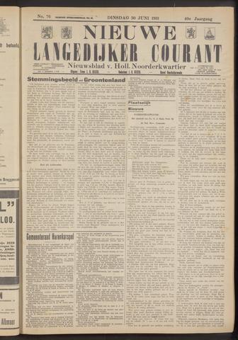 Nieuwe Langedijker Courant 1931-06-30