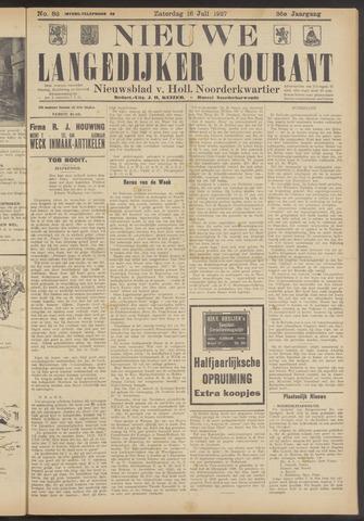 Nieuwe Langedijker Courant 1927-07-16