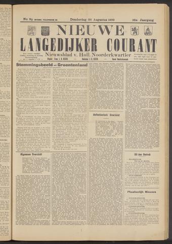 Nieuwe Langedijker Courant 1929-08-22