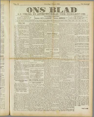 Ons Blad : katholiek nieuwsblad voor N-H 1920-03-06