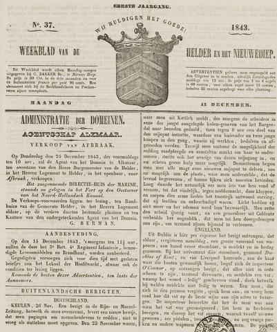 Weekblad van Den Helder en het Nieuwediep 1843-12-11