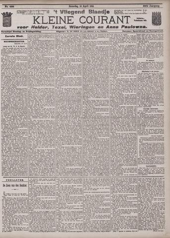 Vliegend blaadje : nieuws- en advertentiebode voor Den Helder 1912-04-13