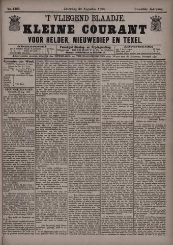 Vliegend blaadje : nieuws- en advertentiebode voor Den Helder 1884-08-30