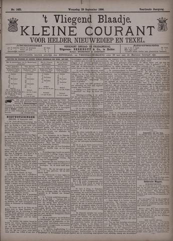 Vliegend blaadje : nieuws- en advertentiebode voor Den Helder 1886-09-29