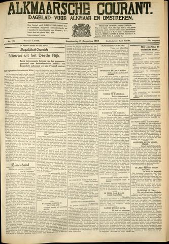 Alkmaarsche Courant 1933-08-17