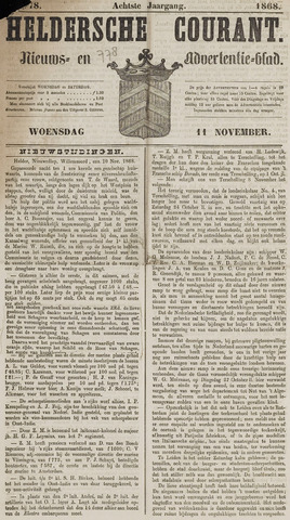 Heldersche Courant 1868-11-11
