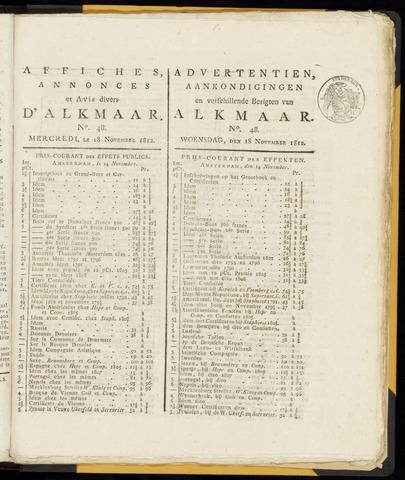 Alkmaarsche Courant 1812-11-18