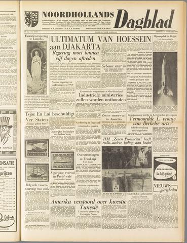 Noordhollands Dagblad : dagblad voor Alkmaar en omgeving 1958-02-11