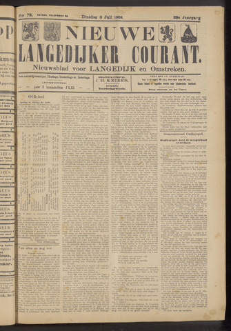 Nieuwe Langedijker Courant 1924-07-08