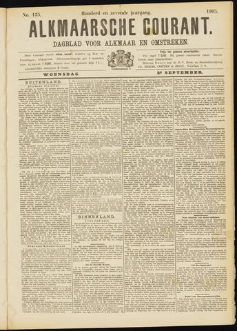 Alkmaarsche Courant 1905-09-27