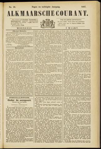 Alkmaarsche Courant 1887-03-02