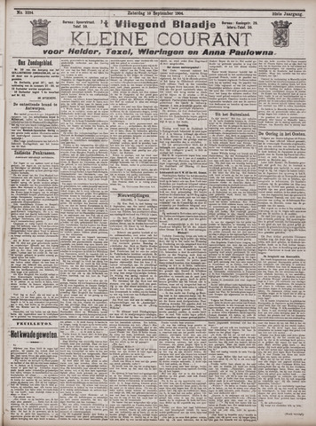 Vliegend blaadje : nieuws- en advertentiebode voor Den Helder 1904-09-10