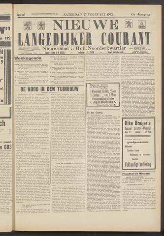 Nieuwe Langedijker Courant 1932-02-27