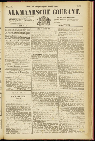 Alkmaarsche Courant 1896-10-30