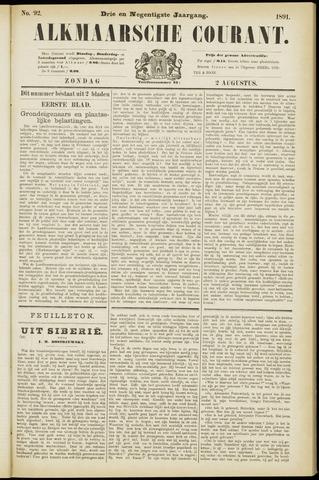 Alkmaarsche Courant 1891-08-02