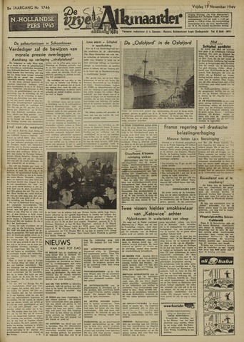 De Vrije Alkmaarder 1949-11-18