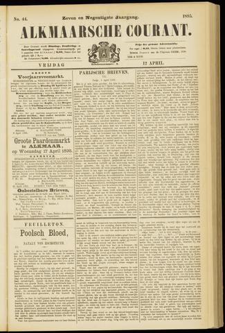 Alkmaarsche Courant 1895-04-12