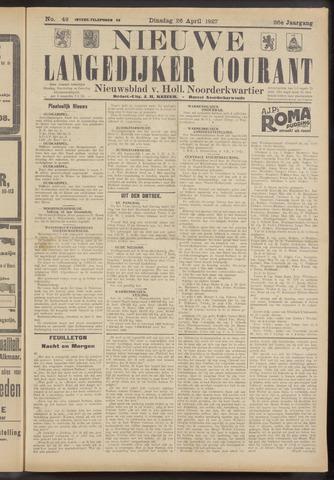 Nieuwe Langedijker Courant 1927-04-26