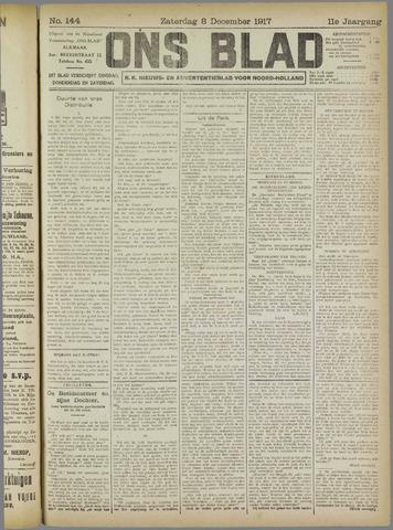 Ons Blad : katholiek nieuwsblad voor N-H 1917-12-08