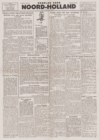 Dagblad Noord-Holland, Schager editie 1944-05-19