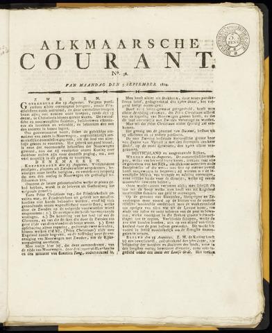 Alkmaarsche Courant 1814-09-05