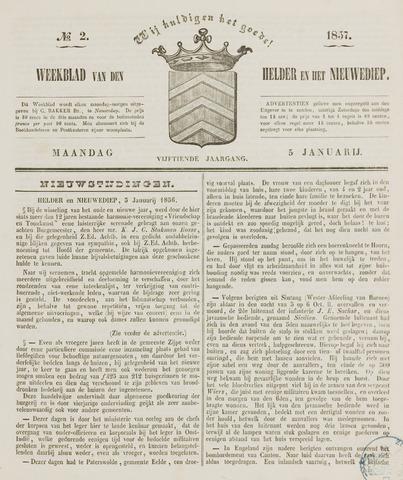 Weekblad van Den Helder en het Nieuwediep 1857-01-05