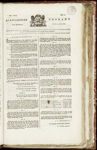 Alkmaarsche Courant 1818-08-03