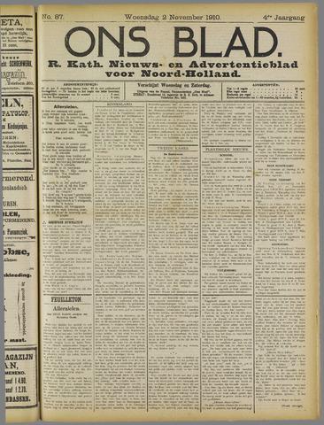 Ons Blad : katholiek nieuwsblad voor N-H 1910-11-02