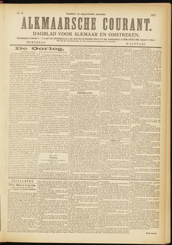Alkmaarsche Courant 1917-01-10