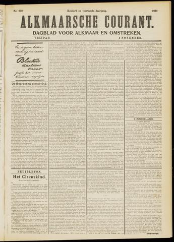 Alkmaarsche Courant 1912-11-01