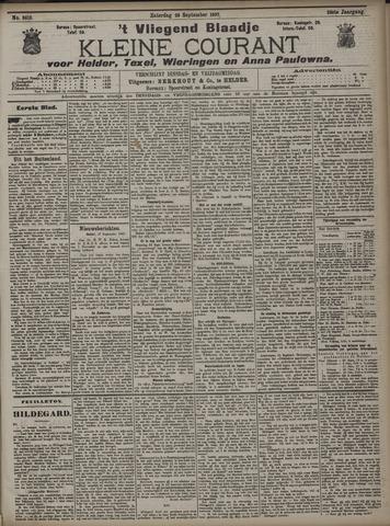 Vliegend blaadje : nieuws- en advertentiebode voor Den Helder 1907-09-28