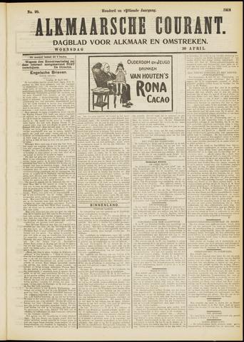 Alkmaarsche Courant 1913-04-30