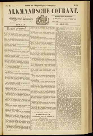 Alkmaarsche Courant 1895-02-17